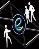 Eine kleinere Welt durch eMail Stockfoto