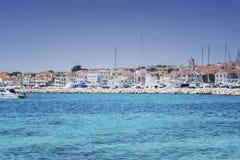 Eine Kleinstadt im adriatischen Meer Stockbild