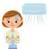 Eine Klimaanlagen- und Frauenarmezirkulation Stockfoto