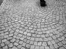 Eine Kopfsteinstraße Stockfotos