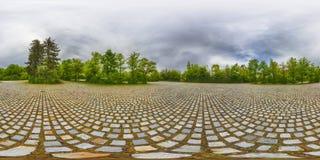 Eine kugelförmige 360-Grad-nahtlose Panoramaansicht in equirectangula Lizenzfreie Stockfotos