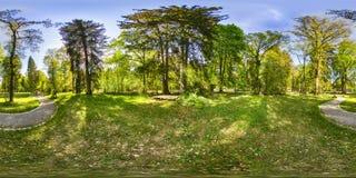 Eine kugelförmige 360-Grad-nahtlose Panoramaansicht in equirectangula Stockfotografie