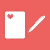 Eine Kugelschreiberzeichnung oder -schreiben Stockbild