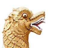 Eine Löweskulptur Lizenzfreie Stockbilder