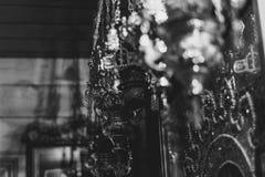 Eine Lampe in der orthodoxen Kirche Stockbilder