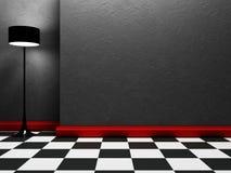 Eine Lampe steht im leeren Raum lizenzfreie abbildung