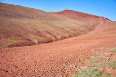 Eine Landschaft auf Mars in Kichik-Alai-Tal in Kirgisistan Stockfoto