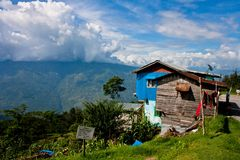 Eine Landschaft bei Darjeeling Stockbild