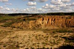 Eine Landschaft der Ebenen, der Felsen und der Wolken Stockfoto