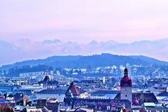 Eine Landschaft der Luzerne, die Schweiz Stockfotos