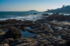 Eine Landschaft von Looe, Cornwall, Großbritannien Lizenzfreie Stockbilder