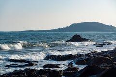Eine Landschaft von Looe, Cornwall, Großbritannien Lizenzfreie Stockfotografie