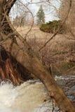Eine Landschaftsansicht eines Wasserfalls im Land Lizenzfreies Stockbild