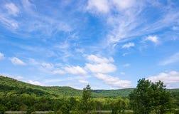 Eine Landschaftsansicht in Nordwest-Pennsylvania, USA im Sommer stockfotografie