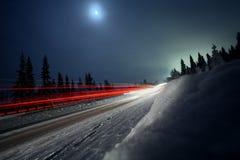 Eine Landstraße in Schweden Lizenzfreies Stockbild