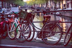 EINE LEBENSART Amsterdam stockbild