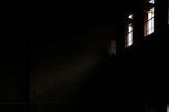 Eine leere alte Fabrik Stockfoto