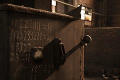 Eine leere alte Fabrik Lizenzfreie Stockfotos