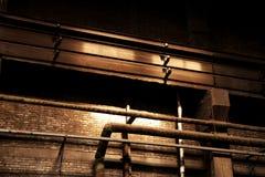 Eine leere alte Fabrik Lizenzfreies Stockfoto