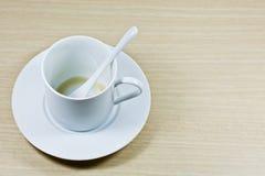 Eine leere Kaffeetasse Stockfoto