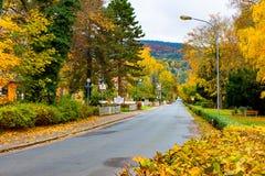 Eine leere Straße in schlechtem Blankenburg Lizenzfreie Stockbilder