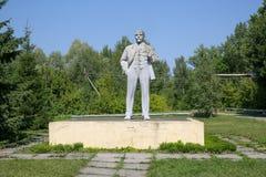 Eine Lenin-Statue in Tschornobyl lizenzfreie stockbilder