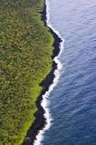 Eine Luftszene entlang der Insel ` s Ostküste, Maui, Hawaii lizenzfreies stockfoto