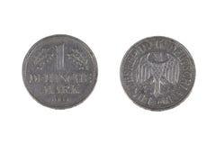 Eine Münze der Deutschen Mark Lizenzfreie Stockfotos
