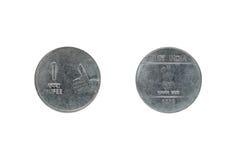 Eine Münze der indischen Rupie Lizenzfreie Stockfotografie