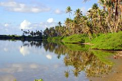 Eine maldives-Insel Stockfotos