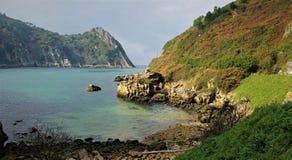 Eine malerische Ansicht einer Bucht stockfotografie