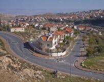 Eine malerische suburbian Nachbarschaft von Jerusalem Stockfotografie