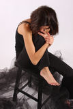 Eine melancholoy Frau Lizenzfreies Stockbild