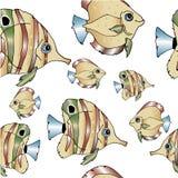 Eine Menge von sich hin- und herbewegenden Fischen Stockbild