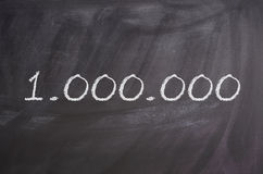 Eine Million stockfotografie