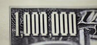 Eine Million Dollar stockbilder