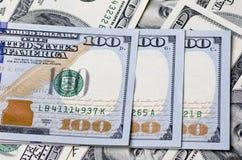 Eine Million Dollar in den Vereinigten Staaten von Amerika als backgr Lizenzfreie Stockfotos