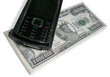 Eine Million Dollar und Telefon Lizenzfreie Stockfotos