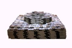 Eine Million im kalten harten Bargeld Stockfoto