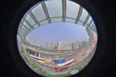 eine moderne Überführungsverbindung West-Kowloon-staion stockbild