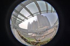 eine moderne Überführungsverbindung West-Kowloon-staion stockfotografie