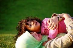 Eine moslemische Mutter und eine Tochter Stockbilder