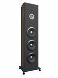 Eine musikalische Spalte mit lauten Lautsprechern ist ein Fußboden 1. Lizenzfreies Stockbild