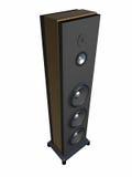 Eine musikalische Spalte mit lauten Lautsprechern ist ein Fußboden 2. Stockbilder