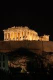 Eine Nacht am Parthenon Lizenzfreie Stockbilder