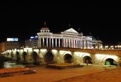 Eine Nacht in Skopje lizenzfreies stockfoto