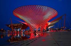Eine Nachtansicht der Ausstellungs-Mittellinie lizenzfreies stockbild