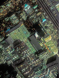 Eine Nachtansicht von Manhattan Stockbilder