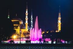 Eine Nachtansicht zu Hagia Sophia Lizenzfreie Stockfotos