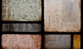 Eine Nahaufnahme auf einem Kirche-Buntglas-Fenster Lizenzfreie Stockbilder